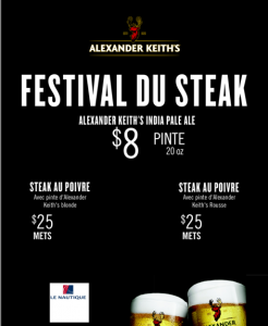 affiche de promotion du festival du steak au nautique